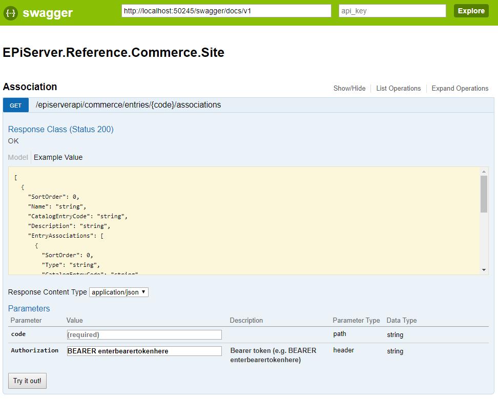 Configuring Swashbuckle for EPiServer Service API Bearer token